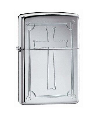 Zippo Windproof Lighter With Engraved Cross, 51151, New In Box
