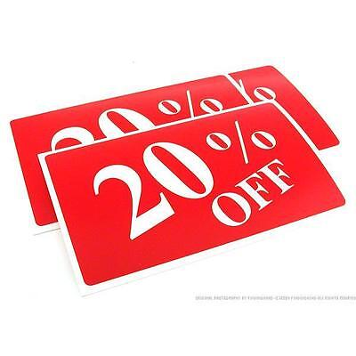 3 20% Off Plastic Message Display Signs