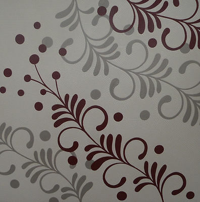 """Vines"" Maroon Grey Flower Garden Acrylic Dot Painting Canvas"