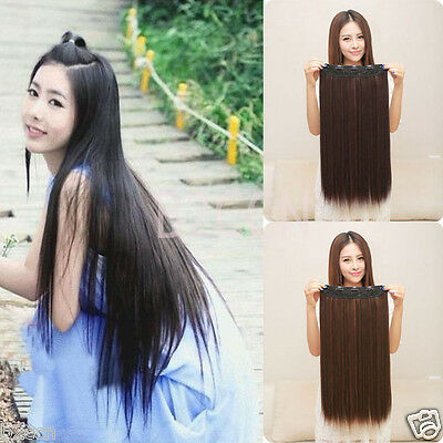 Women's Girl Long Straight Heat Resistant Hair Wig Cosplay Party Synthetic Wigs