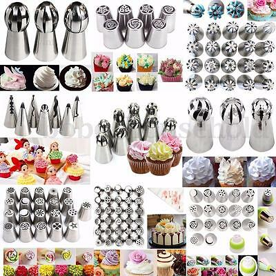 Russian Tulip Icing Piping Sphere Ball Nozzles Tips Cake Decorating Baking Tools