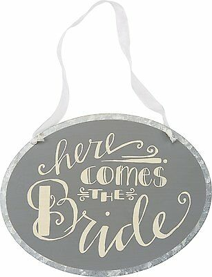 Primitives By Kathy Tin Sign, Here Comes the Bride