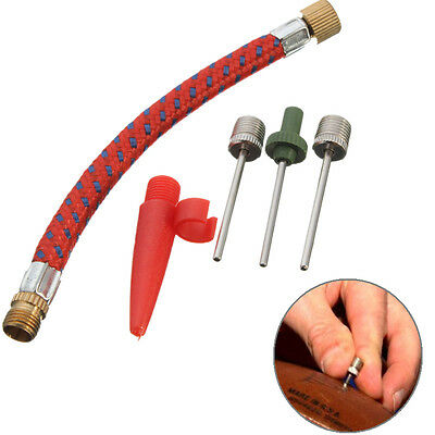 Ball Inflating Pump Needle Valve Adaptor Soccer Basketball Football WHT