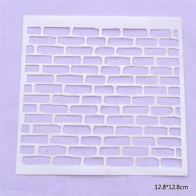 Brick Stencil Template For DIY Scrapbooking Photo Album Paper Cards Craft