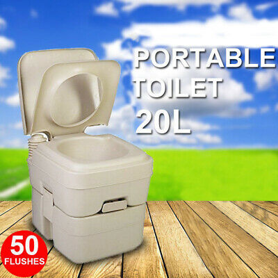 20L Outdoor Portable Potty Toilet Camping Caravan Travel Boating 50 Flushes AU