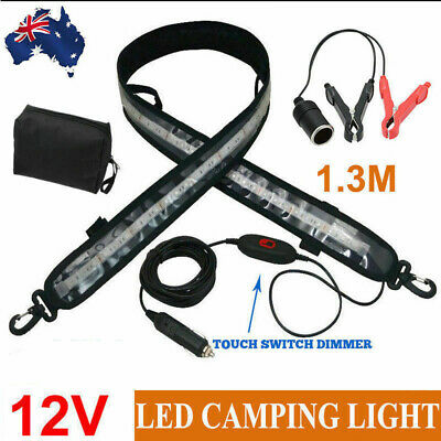 1.3M 12V FLEXIBLE LED CAMPING LIGHT CARAVAN BOAT WATERPROOF BAR Outdoor STRIP