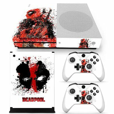 Deadpool Vinyl Skin Decals Stickers for Xbox one S Console 2 Controllers Marvel