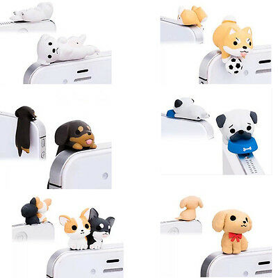 Phone Pug Dog Dust Plug Cap Tablet Charm Puppy Pugs Case Universal