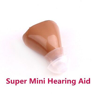 Super Mini Hearing Aid Aids Volume Adjustable Sound Voice Amplifier device low n