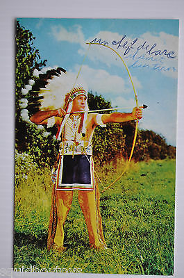 - WALKING SKY Caughnawaga  Canada INDIAN CHIEF 1954 Postcard -