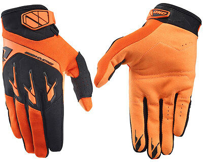 Herren One Industries Atom Motocross Mx Handschuhe Orange Neu Quad Bmx MTB