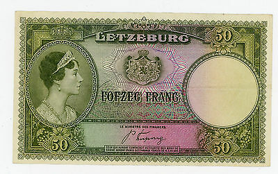 Luxembourg … P-46 … 50 Francs … 1944 … *VF-XF*