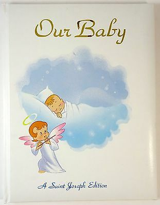 Vintage Baby Book Keepsake Album Saint Joseph Edition Catholic 1984