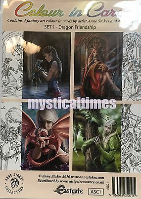 New * Anne Stokes * Colouring Greetings Cards Dragon Fairy Fantasy  Art