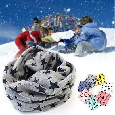 Kid Boy Girl Neck Warmer Scarf Multi Use Function Hat Dots Stars Checkered SS