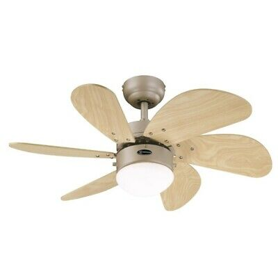 "Turbo Swirl 30"" Westinghouse Titanium Ceiling Fan with Light"