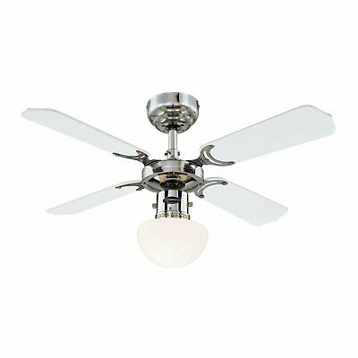 "Portland Ambiance 36"" Westinghouse Chrome Ceiling Fan with light"