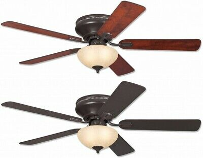 """Everett 52"""" Westinghouse Low Profile Ceiling Fan Expresso Brown with Light"""