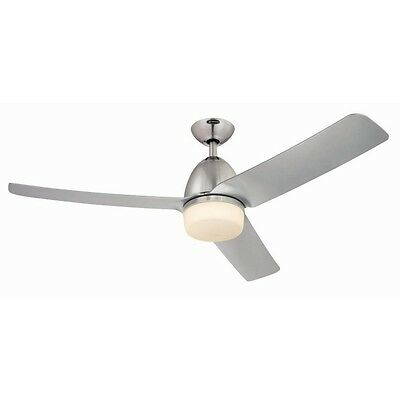 "Delancey 52"" Westinghouse Ceiling Fan Br Chrome with Light & Remote"