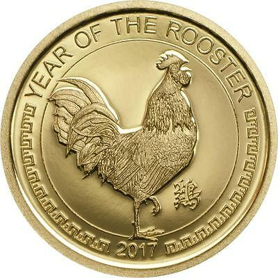 Mongolia 2017 Year of the Rooster 1000 Togrog 0,5g Gold proof Coin