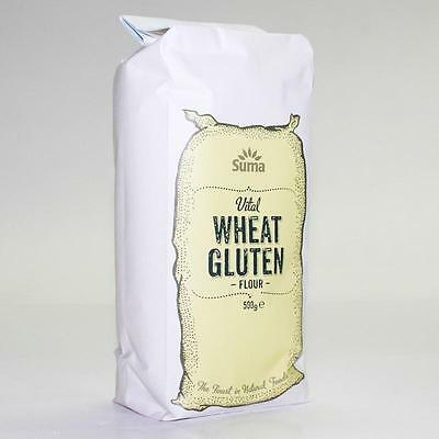 Suma VITAL WHEAT GLUTEN FLOUR - 500g * Buy 2 or More and Save on P&P * Vegan