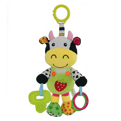 Infant Rattles Baby Music Hanging Bell Toy Doll Soft Bed Plush Toy Educational