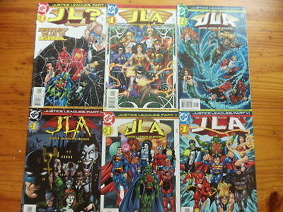 Lot of 6 comics Justice Leagues mini series DC Amazons Arkham Aliens Atlantis