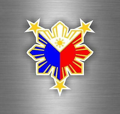Sticker decal flag tuning sun with nautical star car philippines car moto