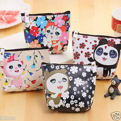 Fashion Women Girls Wallet Leather Animal Coin Purse Bag Change Pouch Key Holder
