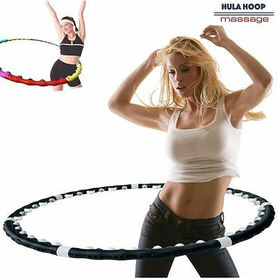 Hula Hoop Massage Magnetic Fitness Perdi Peso in poco Tempo Hoola Dance Fit Nero