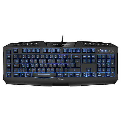 Sharkoon Skiller Pro Illuminated beleuchtete Gaming Tastatur Keyboard schwarz