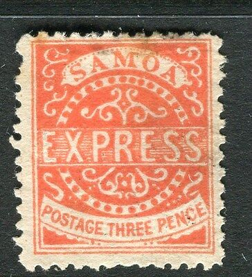 SAMOA;  1877 early classic issue P 12.5 Mint unused 3d. value