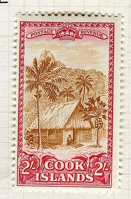COOK ISLANDS;   1949 early GVI Pictorial issue fine Mint hinged 2s. value