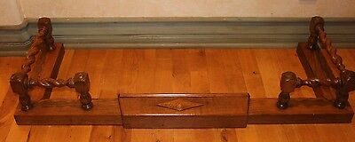 Vintage Victorian Barley Twist Fireplace Fender Skirt