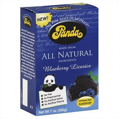 Panda All Natural Licorice Blueberry 7 Oz -Pack of 12