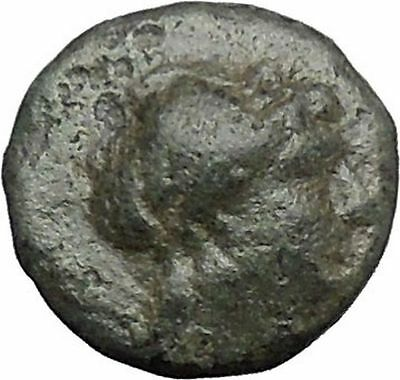 ANTIOCHOS II Theos 261BC Apollo Kithara Lyre Authentic Ancient Greek Coin i49568