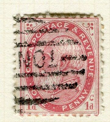 TONGA;  1886 early classic issue fine used 1d. value