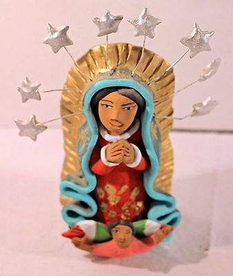 Handcrafted Josefina Aguilar Virgin de Guadalupe Mexican Angel