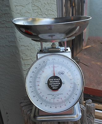 Yamato Acu-Weigh 30 lb Mechanical Dial Produce Scale SM(N).Stainless Steel.NiCe!