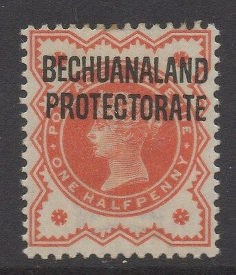 BECHUANALAND;  1890s early QV Protectorate Optd. issue Mint hinged 1/2d. value