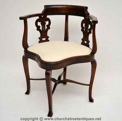 Antique Edwardian Mahogany Corner Chair