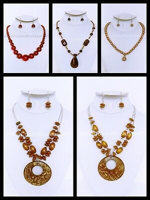 48PC 24 SETS WHOLESALE LOT FASHION COSTUME JEWELRY NECKLACE EARRINGS