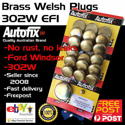 New Ford Windsor EFI Brass Welch Welsh Freeze Core Plug Set Gallery Kit 302W