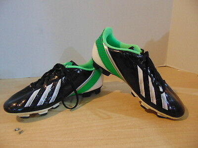 Soccer Shoes Cleats Childrens  Size 2 Adidas  Black Green