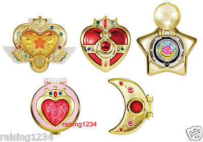 BANDAI Sailor Moon Brooch Makeover Compact Mirror 2 Gashapon (set of 5)