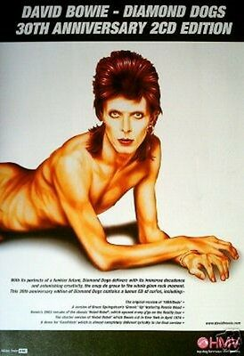 DAVID BOWIE Diamond Dogs 30th UK magazine ADVERT / Poster 11x8 inches