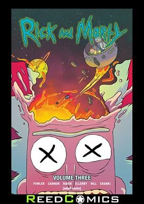 RICK AND MORTY VOLUME 3 GRAPHIC NOVEL New Paperback Based On The Animated Show