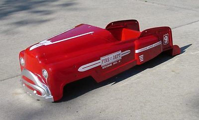 "Pedal Car Body - Murray ""Sad Face"" -All Steel Reproduction ""Fire Truck"" Engine 9"