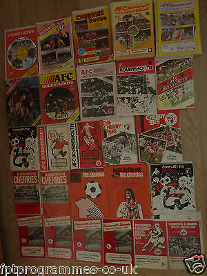 Bournemouth Home Programmes 1960/61 to 1989/90
