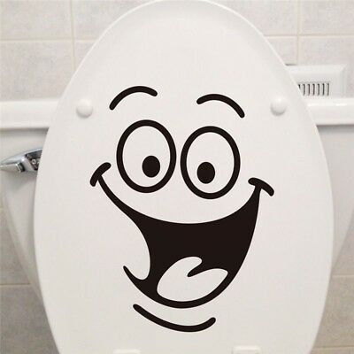 Smile face Toilet stickers diy personalized furniture decoration wall decals fri